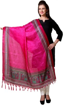 Varanga Art Silk Printed Womens Dupatta