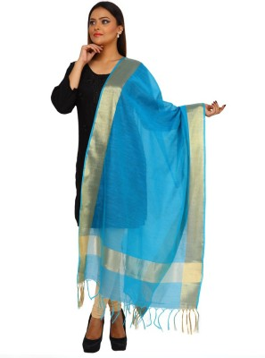 Kataan Bazaar Art Silk Woven Women's Dupatta at flipkart