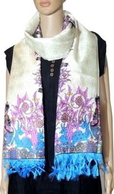 Indian Fashion Guru Raw Silk Floral Print Women,s Dupatta