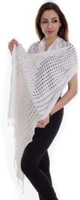 Home Shop Gift Cotton Lycra Blend Self Design Women's Dupatta