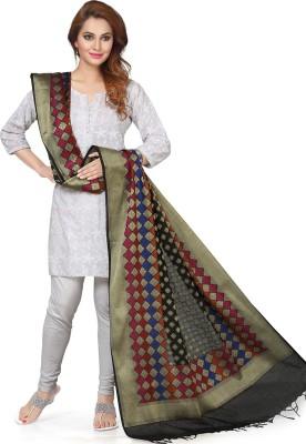 Rani Saahiba Art Silk Self Design, Woven Women's Dupatta at flipkart