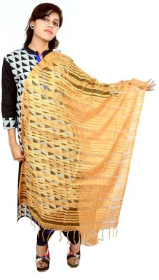 Tussar Shell Art Silk Applique Women's Dupatta