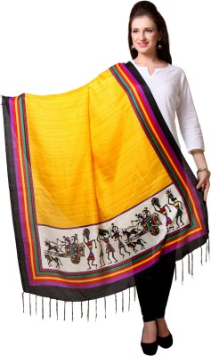 JTInternational Pure Silk Printed Women's Dupatta