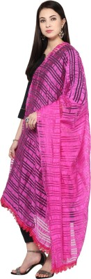DUPATTA BAZAAR Silk Cotton Blend Striped Women's Dupatta