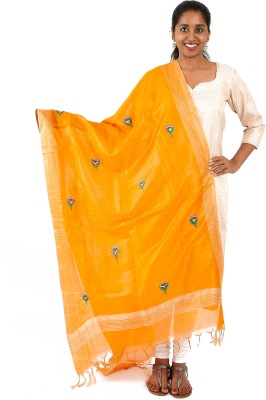 Ethnicshack Pure Silk Self Design Women's Dupatta