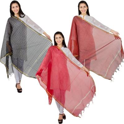 Craftghar Chanderi Solid Women's Dupatta