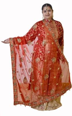 Dulhan Choice Net Embroidered Women's Dupatta