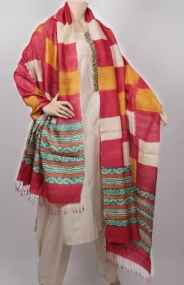 KalaSangam Tussar Silk Checkered Women's Dupatta