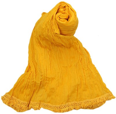 V Brown Kids Dupatta(Yellow)