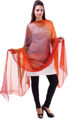 Kubuni Faux Chiffon Striped Women's Dupatta