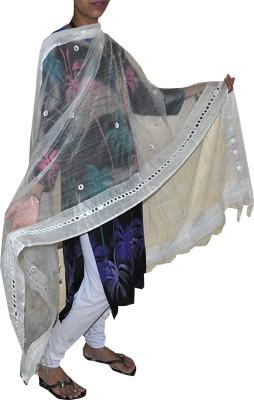 Ooltha Chashma Cotton Slub Self Design Women's Dupatta