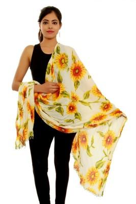 Krishnam Cotton Floral Print Women's Dupatta