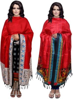 IndiStar Tussar Silk Floral Print Women's Dupatta