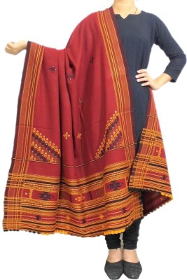GiftPiper Pure Wool Embroidered Women's Dupatta at flipkart
