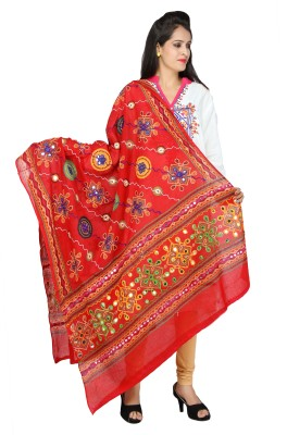Banjara India Cotton Embroidered Women's Dupatta at flipkart