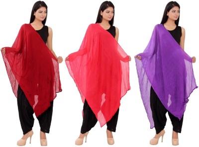 Pms Fashions Pure Chiffon Solid Women's Dupatta