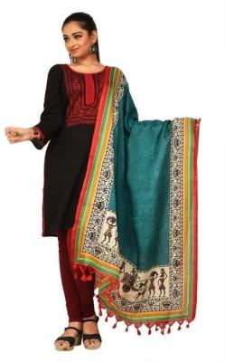 Darbari Tussar Silk Geometric Print Women's Dupatta