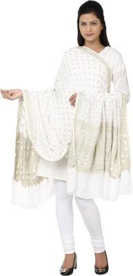 Tomorrow,S Antiques Raw Silk, Jacquard Solid Women's Dupatta