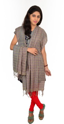 Tussar Shell Art Silk Striped Women's Dupatta