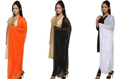 Dupatta Bazaar Faux Chiffon Solid Women's Dupatta