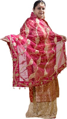 Dulhan Choice Net Embroidered Women's Dupatta