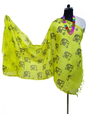 Toygully Art Silk, Chanderi, Silk Cotton Blend Graphic Print, Printed Women's Dupatta