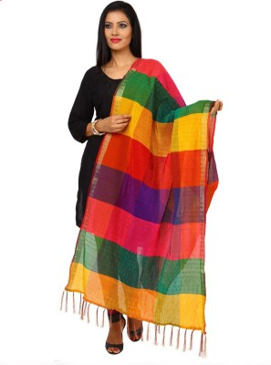 Kataan Bazaar Art Silk Woven Women's Dupatta at flipkart