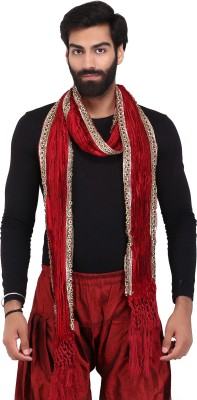 MEN.XS Raw Silk Embellished Men's Dupatta