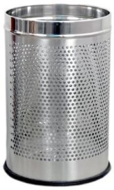 """King Traders - Perforated Open / Garbage Bin/Medium and Large/ - 7 Litre (8""""x12"""") + 11 Litre (10'' X 14'')- Set of 2 Pcs Stainless Steel Dustbin"""