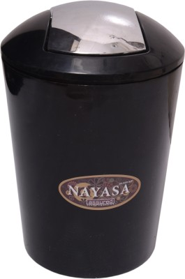 Nayasa Plastic Dustbin(Black)