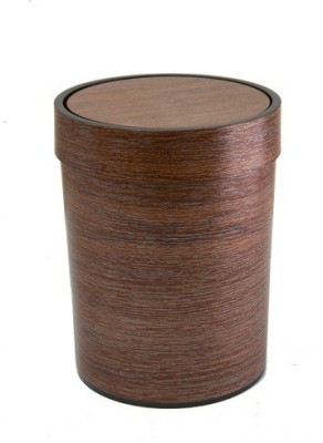 MOG Wooden Look Plastic Dustbin