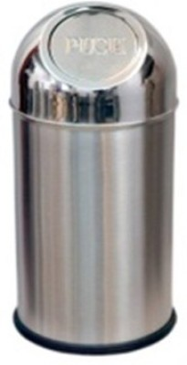King Traders Small Push Table Top/Coin Collector/Multipurpose Holder (5,,X 8,,)- 3 litre Stainless Steel Dustbin