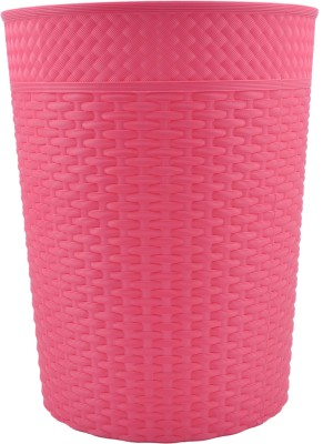 Polyset Plastic Dustbin(Pink, Pack of 2)