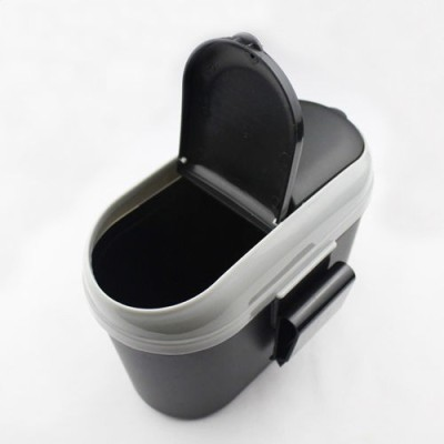 Divinext Car Mini Trash Rubbish Can Garbage Dust Dustbin Box Case Holder Bin Hook Plastic Dustbin