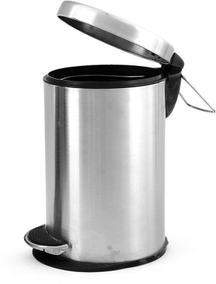 saanvi creations Stainless Steel Dustbin(Silver)