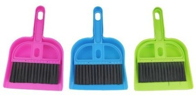 Ideal Home Plastic Dustpan(Green, Blue, Pink)