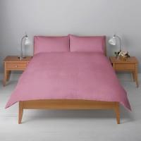 Misr Single Cotton Duvet Cover(Pink, Duvet Cover II 2 Pillow cases)
