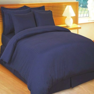 Amrich Cotton Striped King sized Double Bedsheet