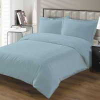 MISR Single Cotton Duvet Cover(Light Blue, Duvet Cover II 2 Pillow cases)