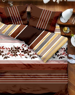 Tangerine Floral Double Quilts & Comforters Beige, Brown