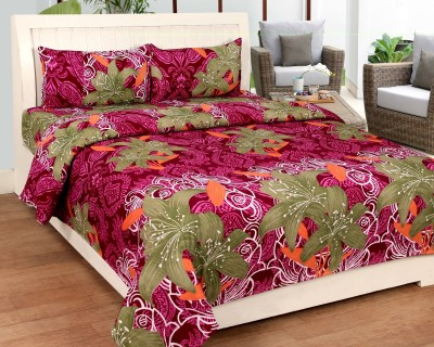 Bed & Bath Polycotton 3D Printed Double Bedsheet