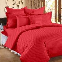 Ahmedabad Cotton King Cotton, Satin Duvet Cover(Red)