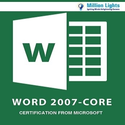 Millionlights Word 2007 - Core Certification from Microsoft Certification Course(Voucher)