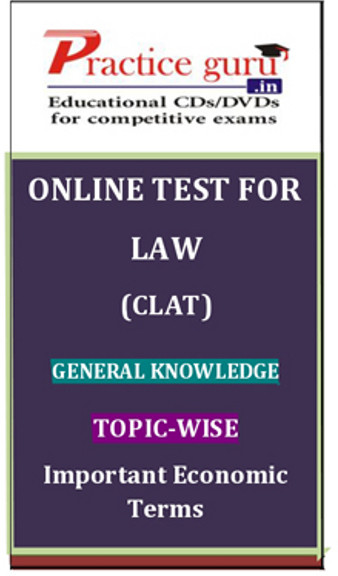 Practice Guru Law (CLAT) General Knowledge Topic-wise Important Economic Terms Online Test(Voucher)
