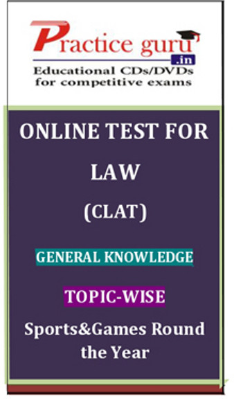 Practice Guru Law (CLAT) General Knowledge Topic-wise Sports & Games Round the Year Online Test(Voucher)