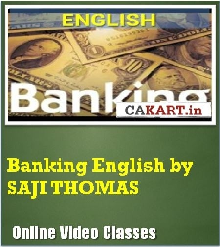 CAKART Banking English by Saji Thomas Online Course(Voucher)