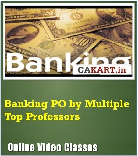 CAKART Banking PO by Multiple Top Professors Online Course(Voucher)