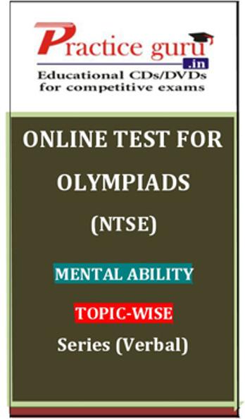 Practice Guru Olympiads (NTSE) Mental Ability Topic-wise Series (Verbal) Online Test(Voucher)