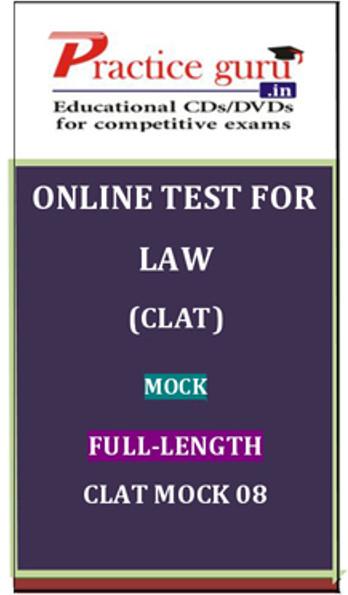 Practice Guru Law (CLAT) Mock Full-length CLAT Mock 08 Online Test(Voucher)