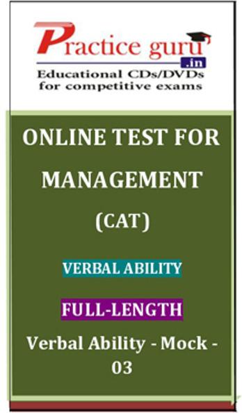 Practice Guru Management (CAT) Verbal Ability Full-length Verbal Ability Mock - 03 Online Test(Voucher)